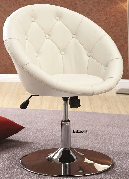 office vanity stool chair swivel seat accent round tufted back bedroom desk home