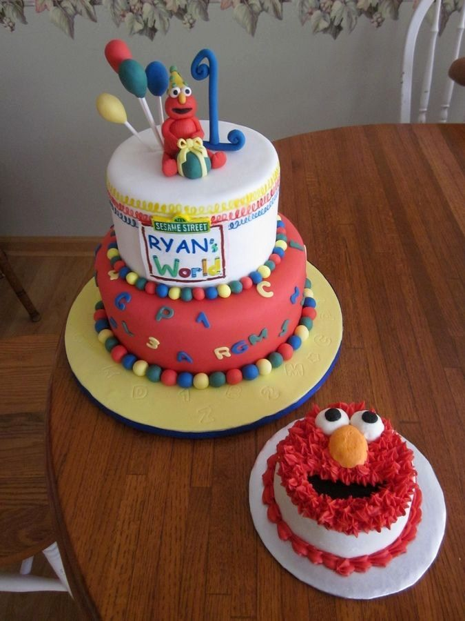 Image result for elmo smash cake Baptism first birthday