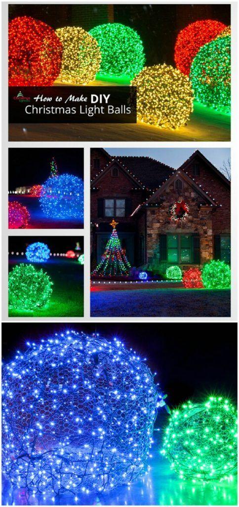 20 Impossibly Creative Diy Outdoor Christmas Decoration Outdoor Christmas Diy Decorating With Christmas Lights Light Balls Christmas