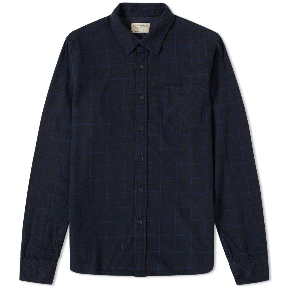 Flannel shirt season  Nudie Henry Flannel Shirt Black Check  Shirts  Pinterest