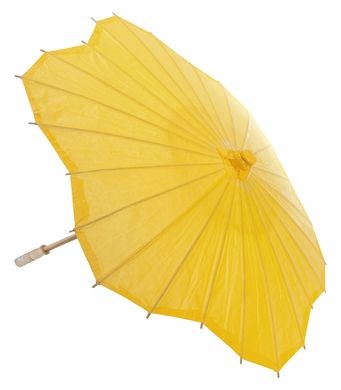 32 Yellow Scallop Shaped Paper Parasol Umbrellas On Sale Now