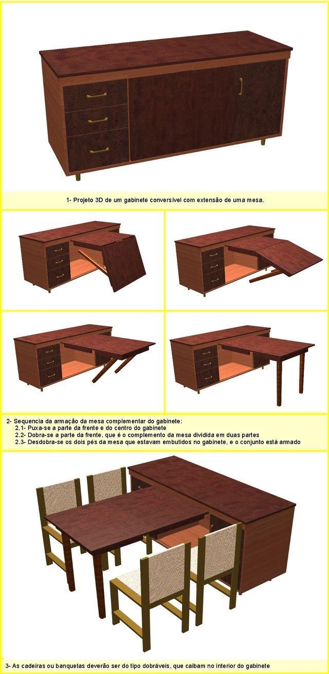 Mesa Plegable Con Mueble De Tv Muebles Practicos Pinterest  # Muebles Plegables