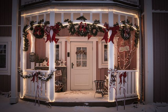 Outside Christmas Decoration by kbo, via Flickr Christmas- Trees