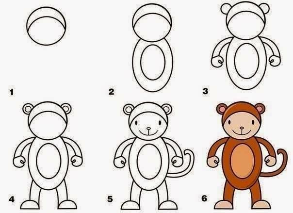 aap tekenen   mrs. cozine   drawings, animal drawings, toddler art