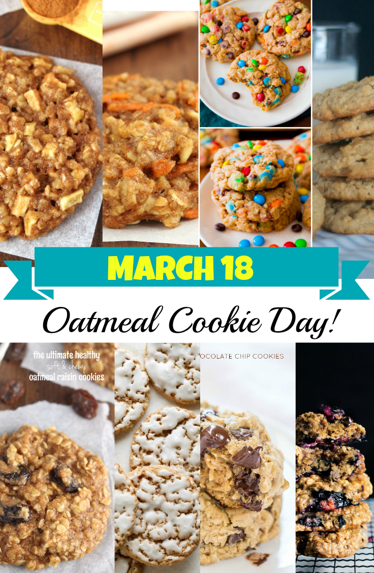 March 18th Is Oatmeal Cookie Day Discountqueens Com Oatmeal Cookies Oatmeal Cookie Recipes Healthy Cookies