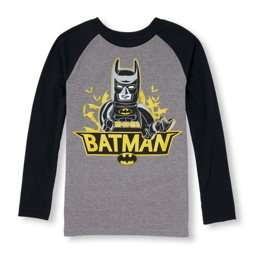 Lego Batman Boys Long Sleeve Boys Gray T-Shirt