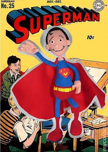 Superman Amigurumi, un patrón gratuito y con muchas fotografías, una ...