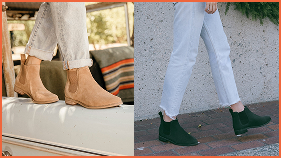 a175d8935a648 The Ella Suede Ankle Boots by TOMS come in two trendy Fall colours  Toffee  and Black!