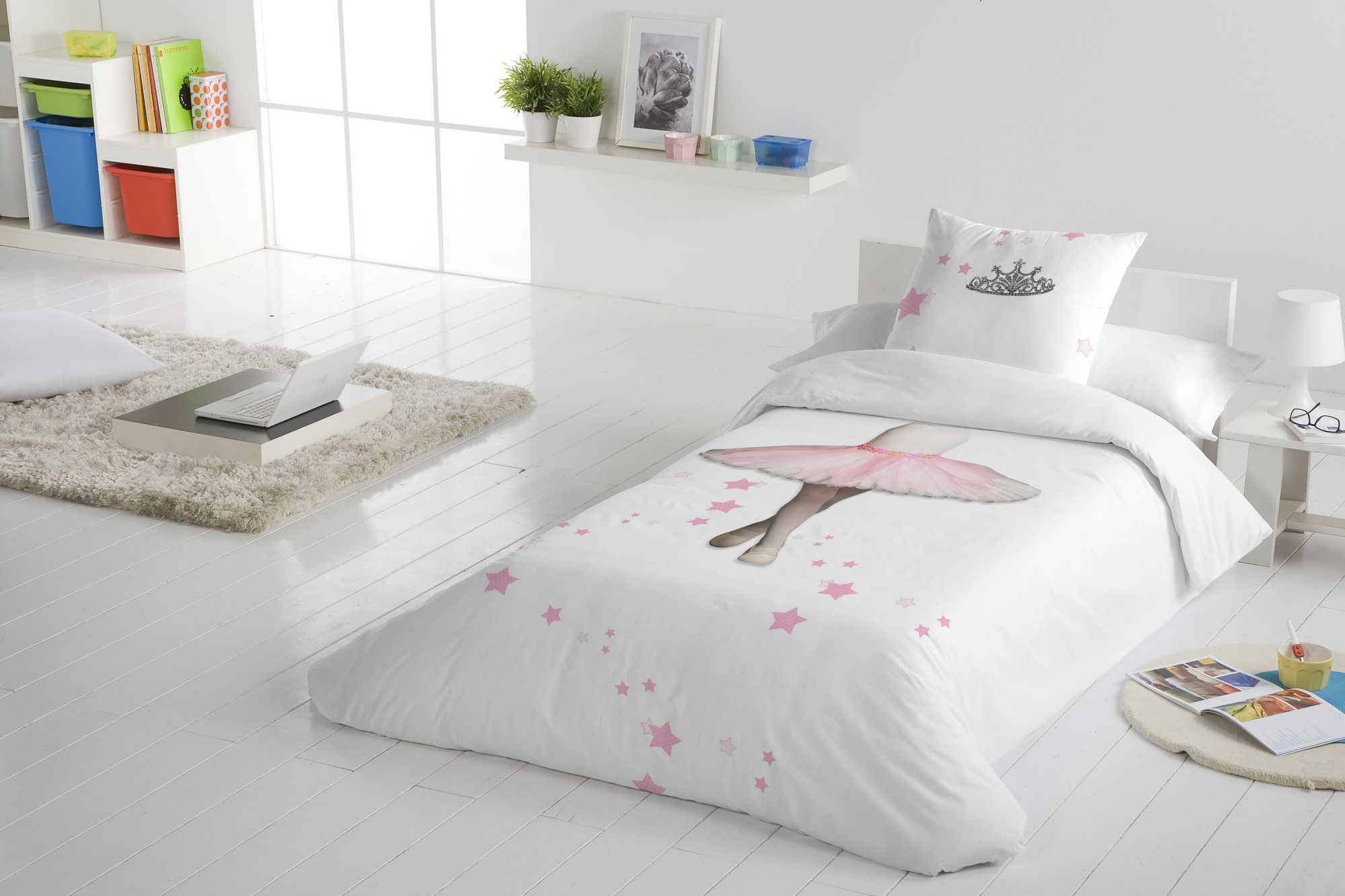 Ballerina 2 Piece Twin Duvet Cover Set