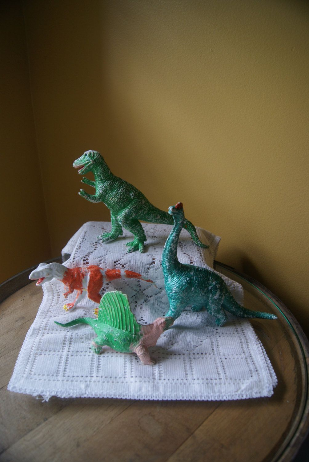Vintage Toy Dinosaurs Hard Plastic Funky Quirky