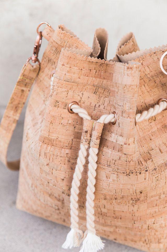 Bucket Bag Tutorial | Taschen nähen, Nähen und Nähideen