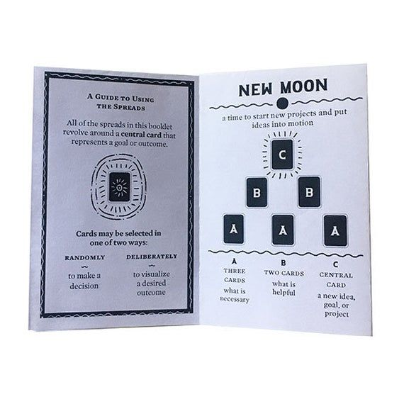 Moon Phase Tarot Spreads Zine - PDF Download #fullmoontarotspread