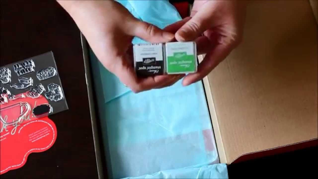 Unboxing and Reveal of the Stampin' Up July 2015 Paper Pumpkin Kit www.LaurasStampPad.com