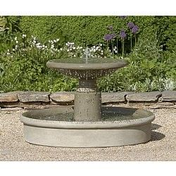 The Esplanade Garden Water Fountain With Pool From The Campania Collection  Is The Perfect Sleek Fountain To Accent Your Outdoor Setting. This Cast  Stone ...