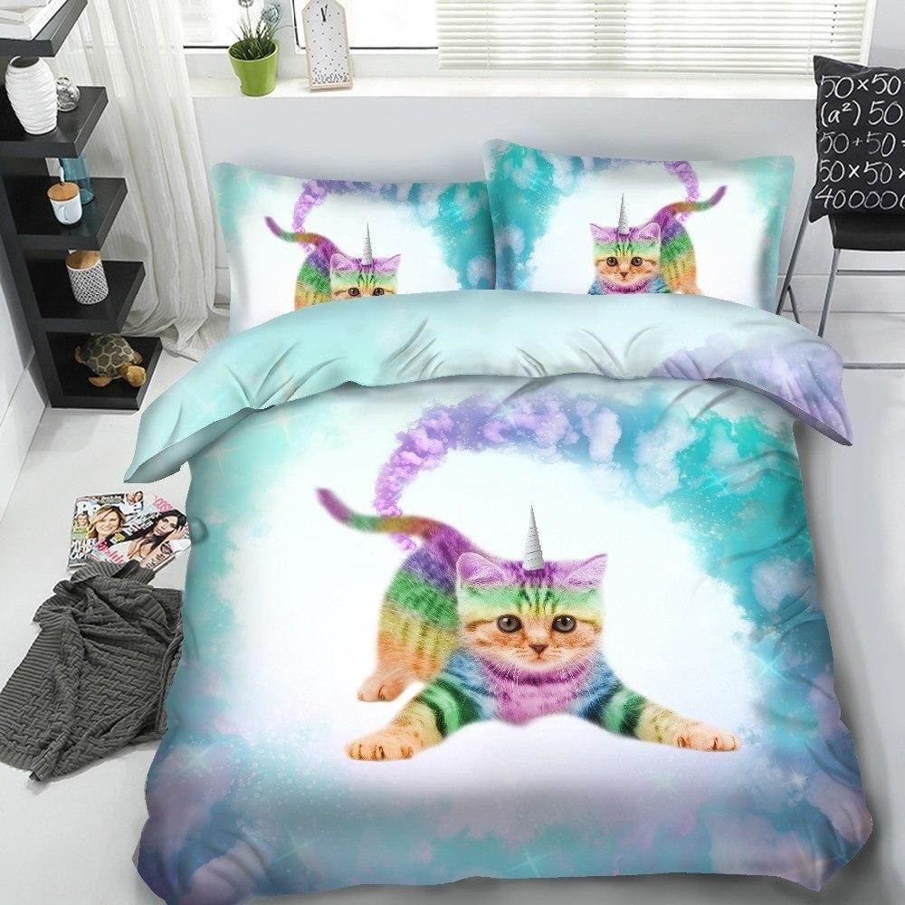 Baby rainbow caticorn bedding set girl room inspiration
