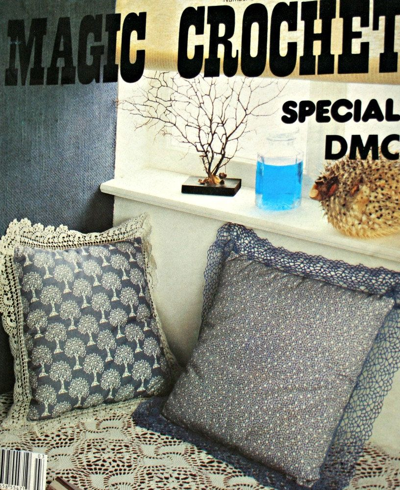 Crochet Patterns Linens and Trims Magic Crochet Special DMC Number 3  Vintage Paper Original NOT a PDF by elanknits on Etsy