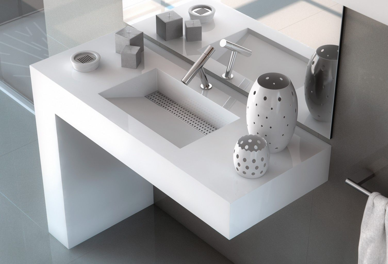 Bath collection by cosentino for Silestone sink