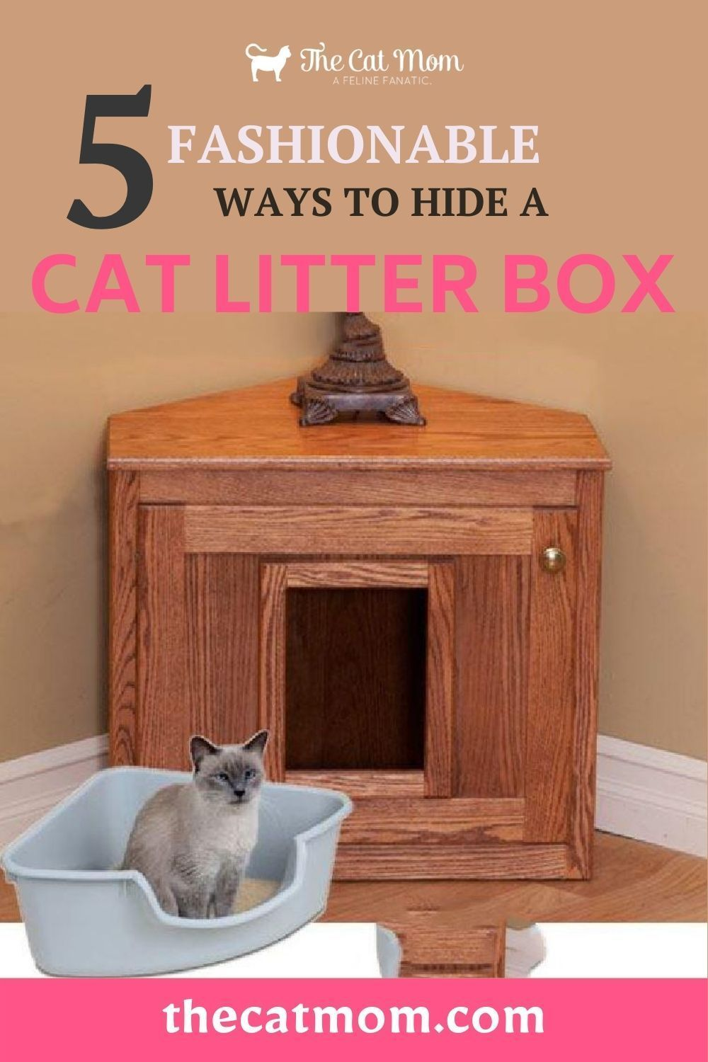 5 Fashionable Ways To Hide A Cat Litter Box In 2020 Cat Litter Cat Mom Litter Box