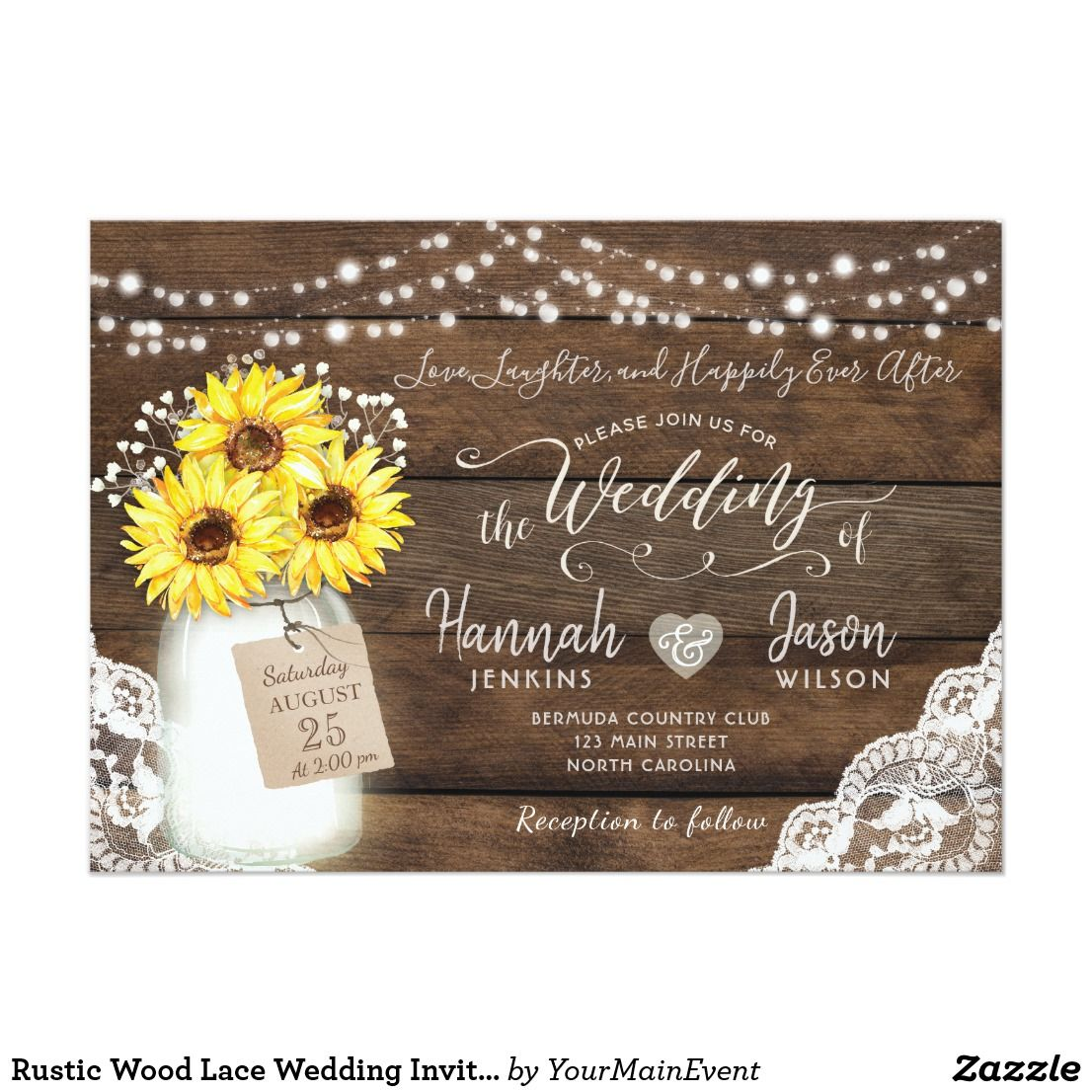 create your own invitation  zazzle  sunflower