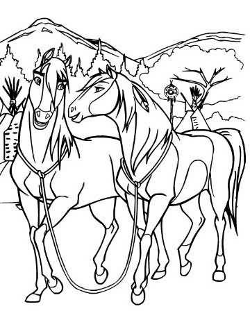 Spirit And Rain Coloring Pages Zoom Spirit Rain X Spirit And Rain Spirit Drawing Horse Coloring Pages