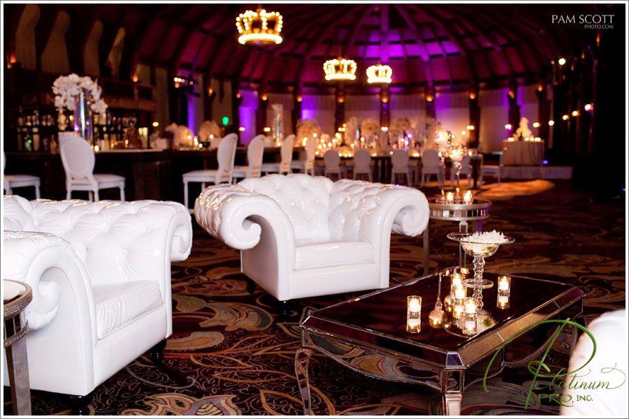 Wedding lounge with great purple uplighting! #lounge #wedding ...