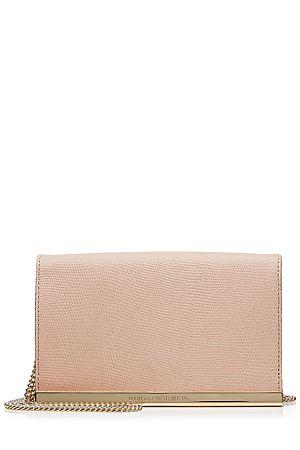 Das Essential für eleganten Cocktail-Chic? Die Kuvert-Clutch in rosefarbenem Leder von Diane von Furstenberg #Stylebop