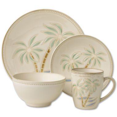 Pfaltzgraff Everyday Palm 16 Pc Dinnerware Set Found At