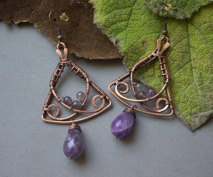 Photo of Amethyst Earrings Wire
