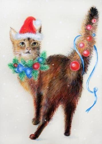 Графика : Новогодний кот