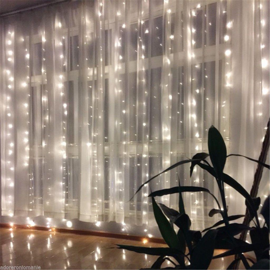 400 Led Lichternetz Vorhang Garten Lichter Netz Beleuchtung Deko Weihnachten Neu 2 Lichternetz Lichterketten Vorhang Lichtervorhang