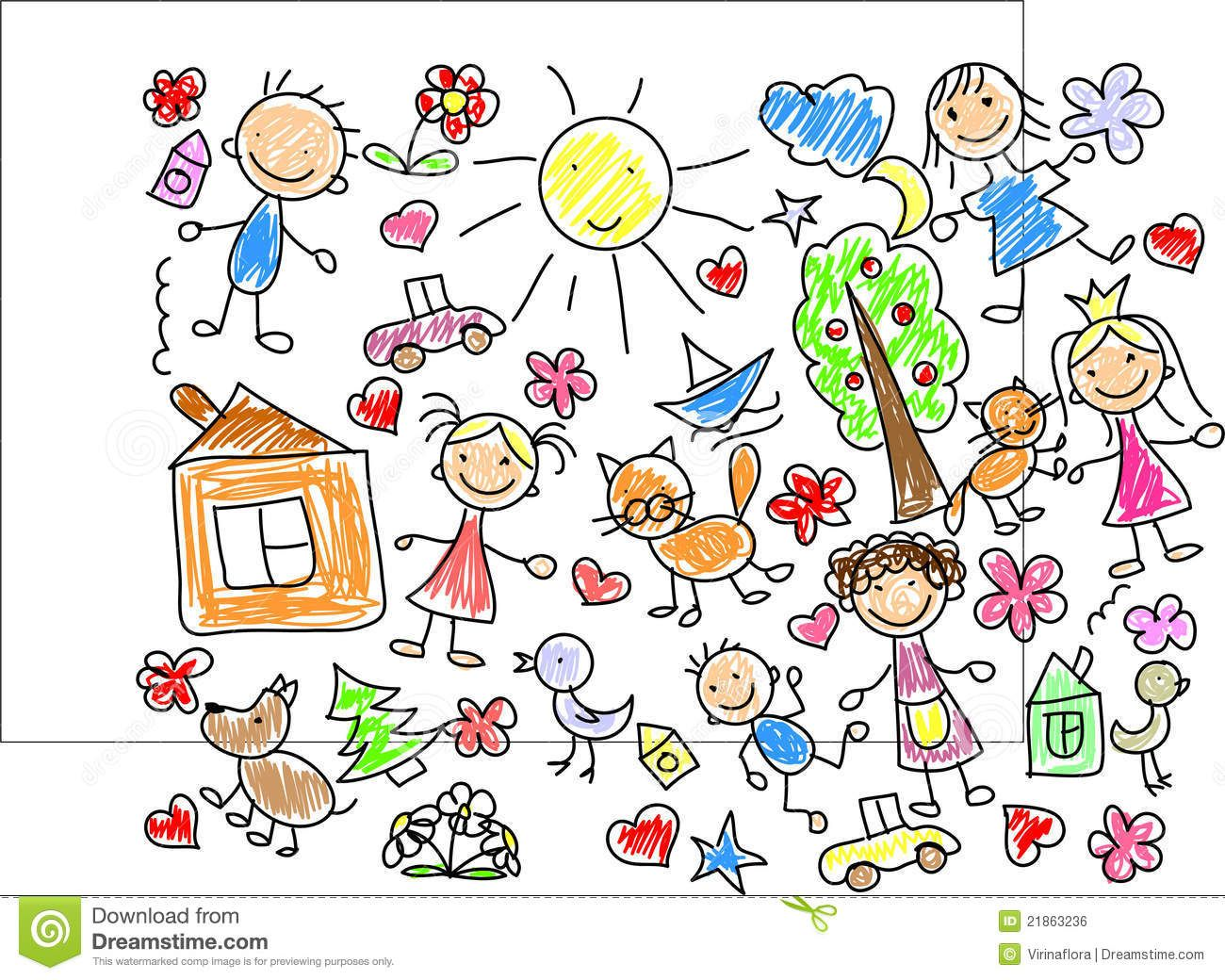 childrens drawings stock vector from the largest library of royalty free images only at shutterstock