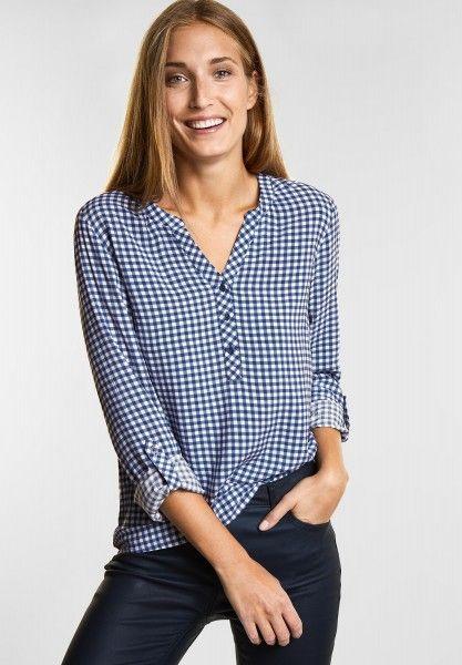 große Sammlung gutes Angebot das beste CECIL - Karo Bluse Juliet in Deep Blue   CONCEPT Mode ...