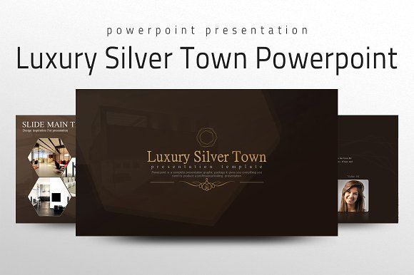 luxury silver town powerpointgood pello on @creativemarket, Presentation templates