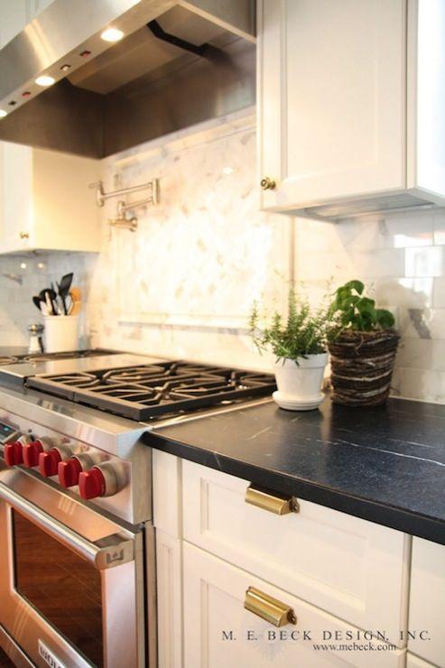 M E Beck Design Kitchens Pot Filler Calcutta Gold