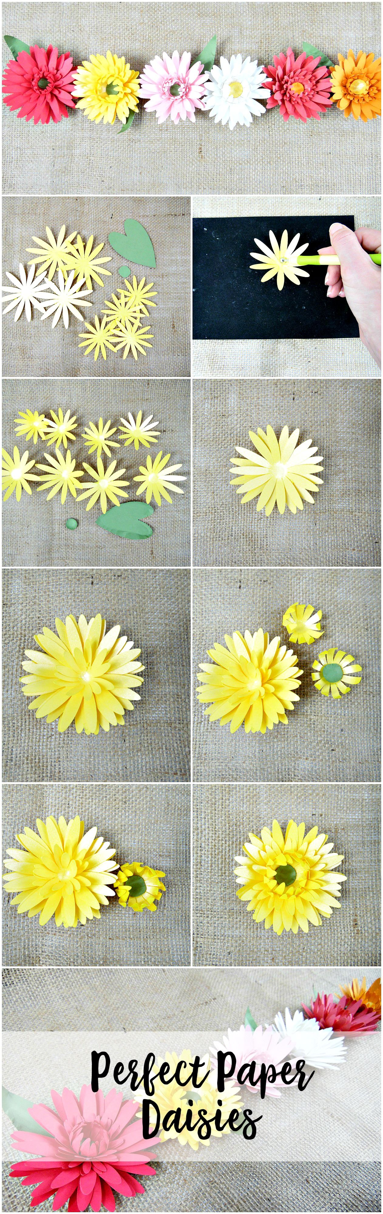 Paper flowers daisy flower templates svg flower cut files svg paper daisy how to instructions diy paper flowers printable templates izmirmasajfo