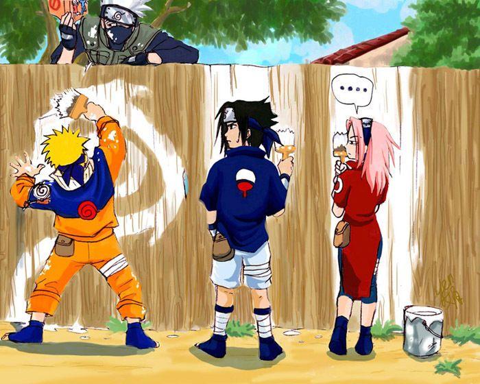 Naruto , Sasuke and Sakura