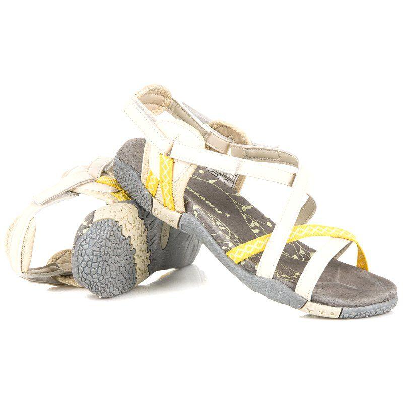 Hasby Sportowe Sandaly Na Rzep Brazowe Shoes Sandals Fashion