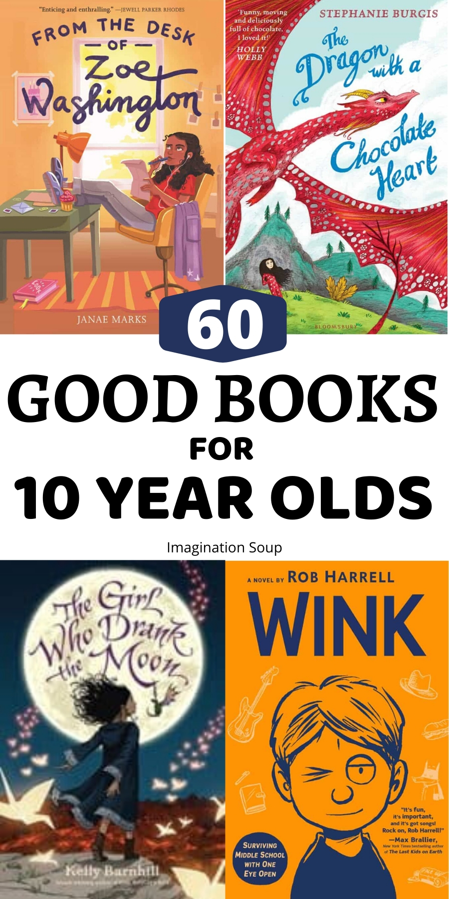 Best Books for 10 Year Olds 5th Grade   Imagination Soup