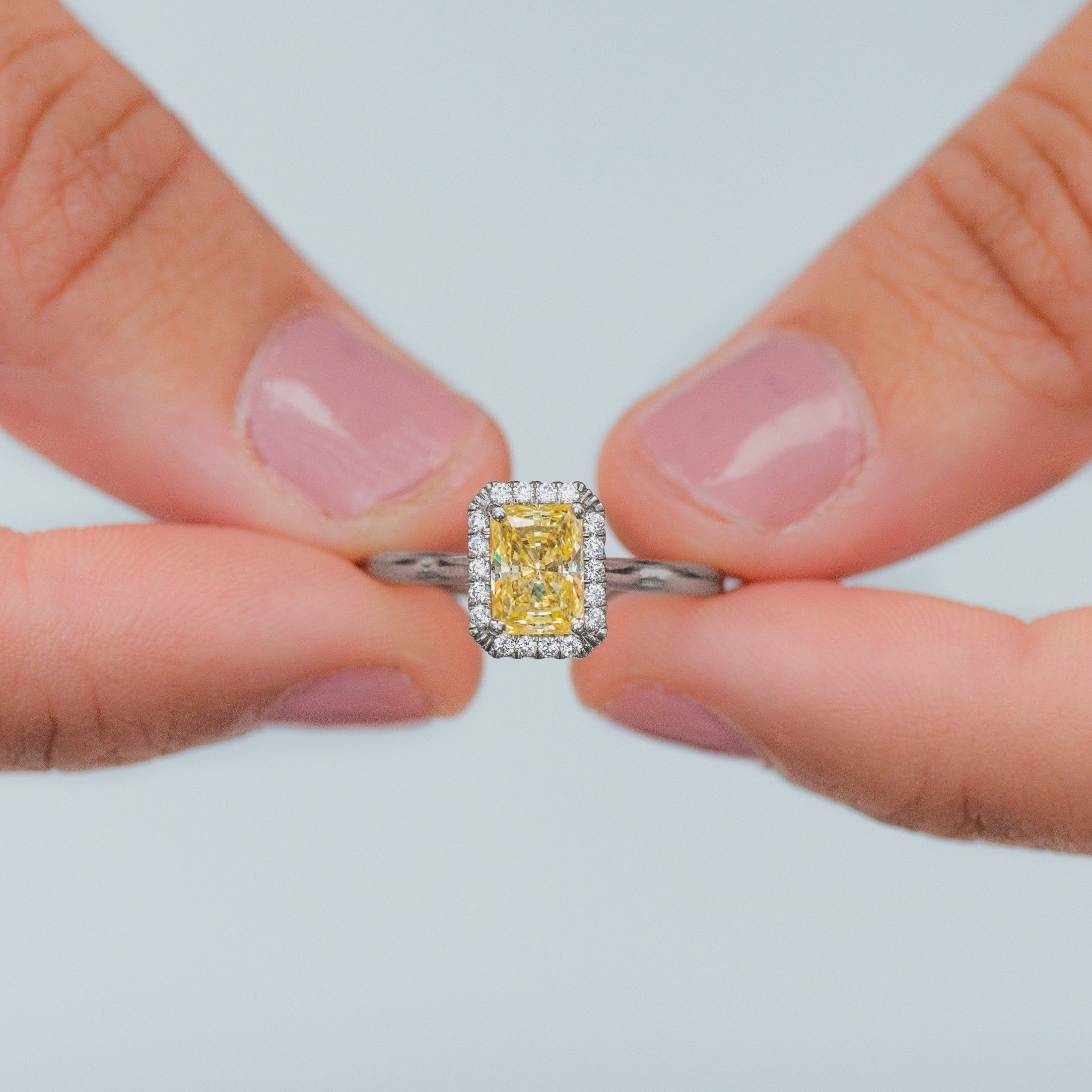 Beautiful Yellow Diamond Engagement Rings On Hand - Best Jewelry