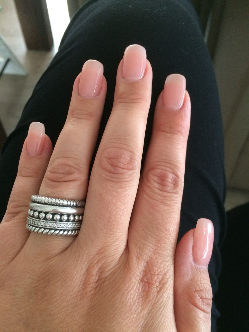 Acryl nails with natural nail polish look | nails | Pinterest ...