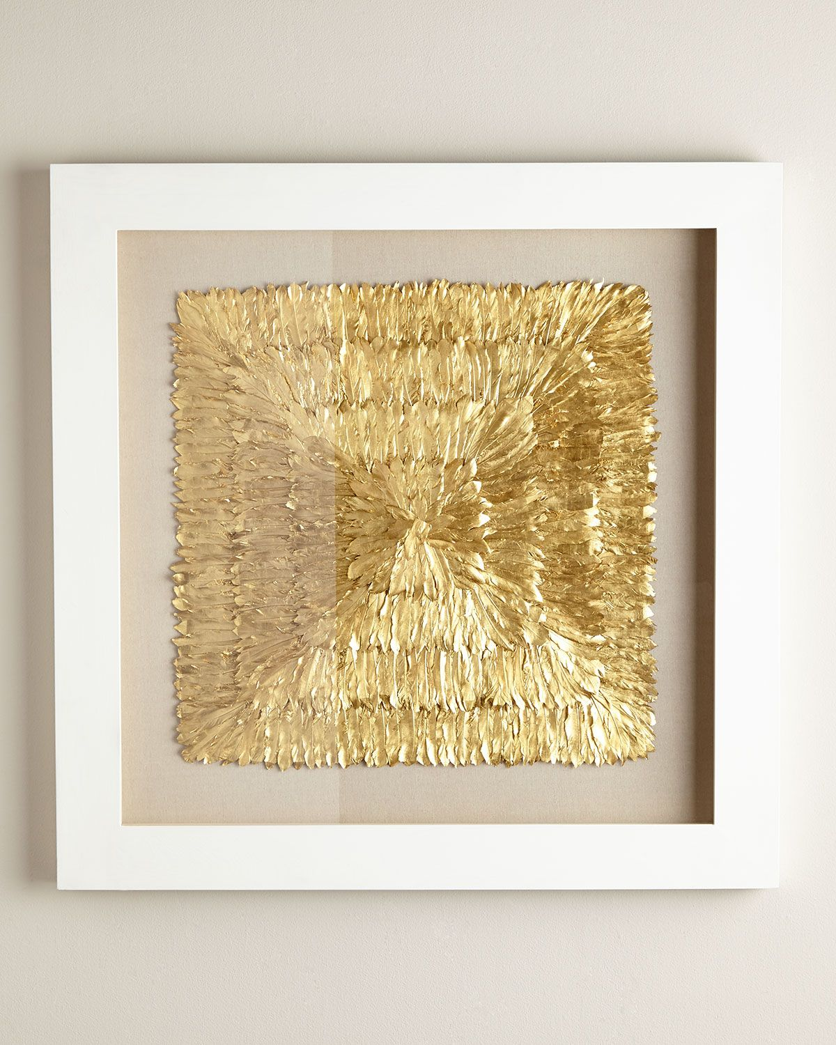 Golden Feather Spaturral Wall Decor, Gold