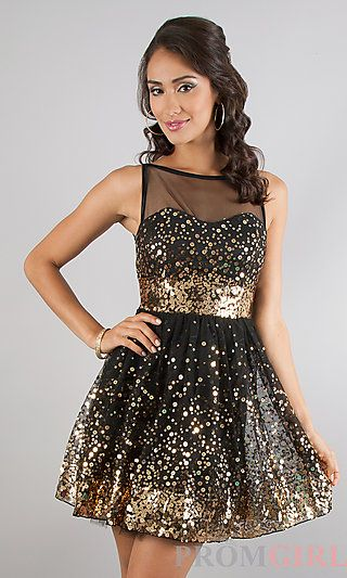 f9cd2b533f3 Short Sparkling Sleeveless Party Dress by Ruby Rox at PromGirl.com ...