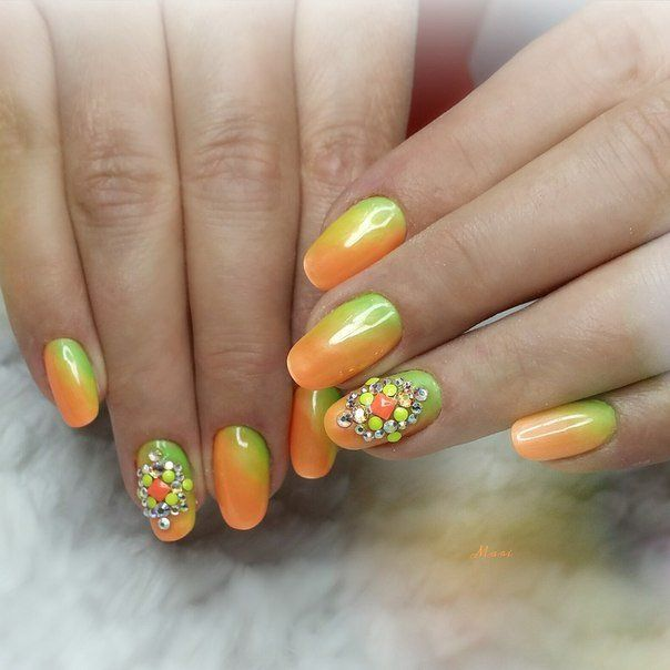 Nail Art #675 - Best Nail Art Designs Gallery   Bright summer nails ...