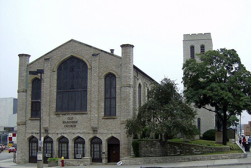 """This is the Maritime Sailors Cathedral in Detroit, Michigan. Gordon Lightfoot sang about this """"musty old hall"""" in his 1976 #1 hit """"The Wreck of the Edmond Fitzjerold"""""""