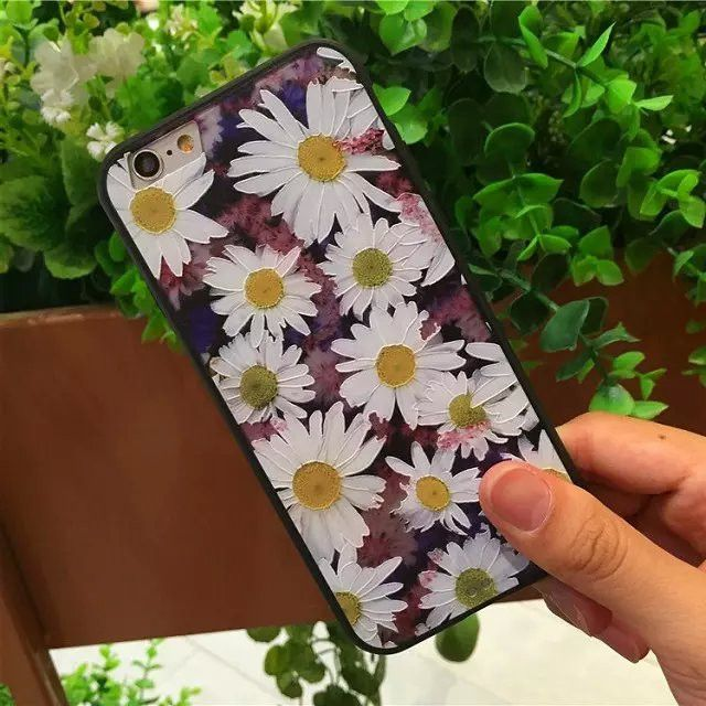 Fashion Luxury Floral Painted 3D Relief For Apple iPhone 6 iPhone6 6S 4.7 Case For iPhone 6 Beauty Flower Cell Phone Cases Cover  $7.97  https://goo.gl/GDqTSL  http://hespirides.com  #sweet #nice #love #stylish #cute