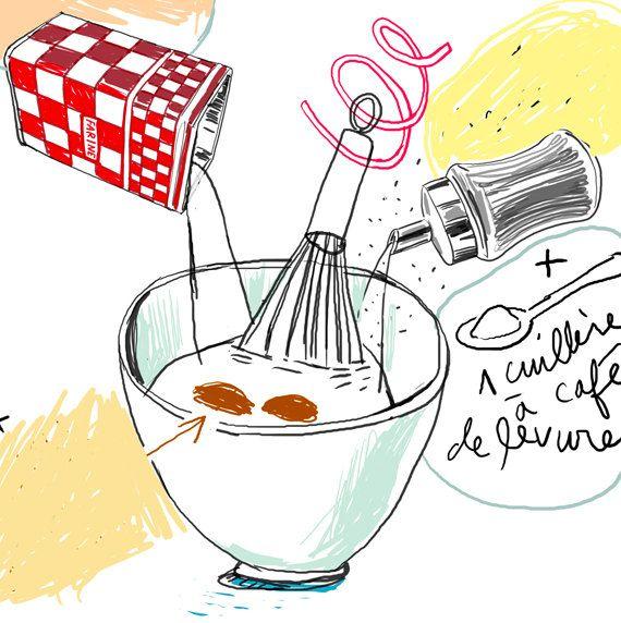Custom recipe - YOUR favorite recipe - Original watercolor painting - Art gift - Kitchen decor