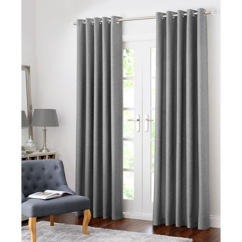 Colorado Hopsack Fully Lined Eyelet Curtain 90 X