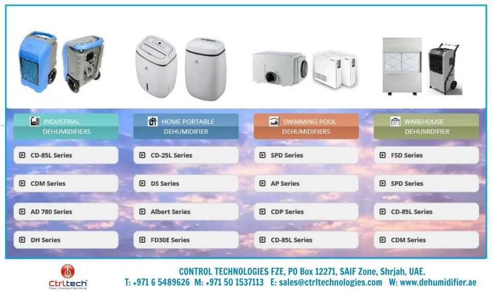 Ctrltech Offers All Kinds Of Dehumidifier Which Includes Portable Dehumidifier Industrial Dehumidifier Swimming Pool Dehu Dehumidifiers Cold Room Server Room