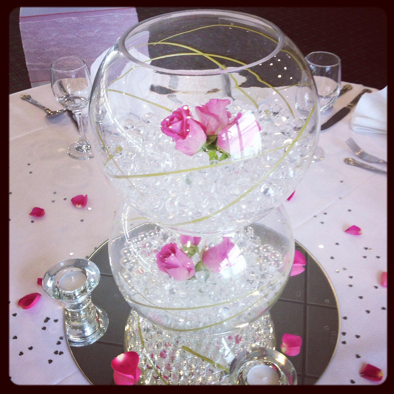 Double stack Fish Bowl Centrepiece. | Centrepieces | Pinterest ...