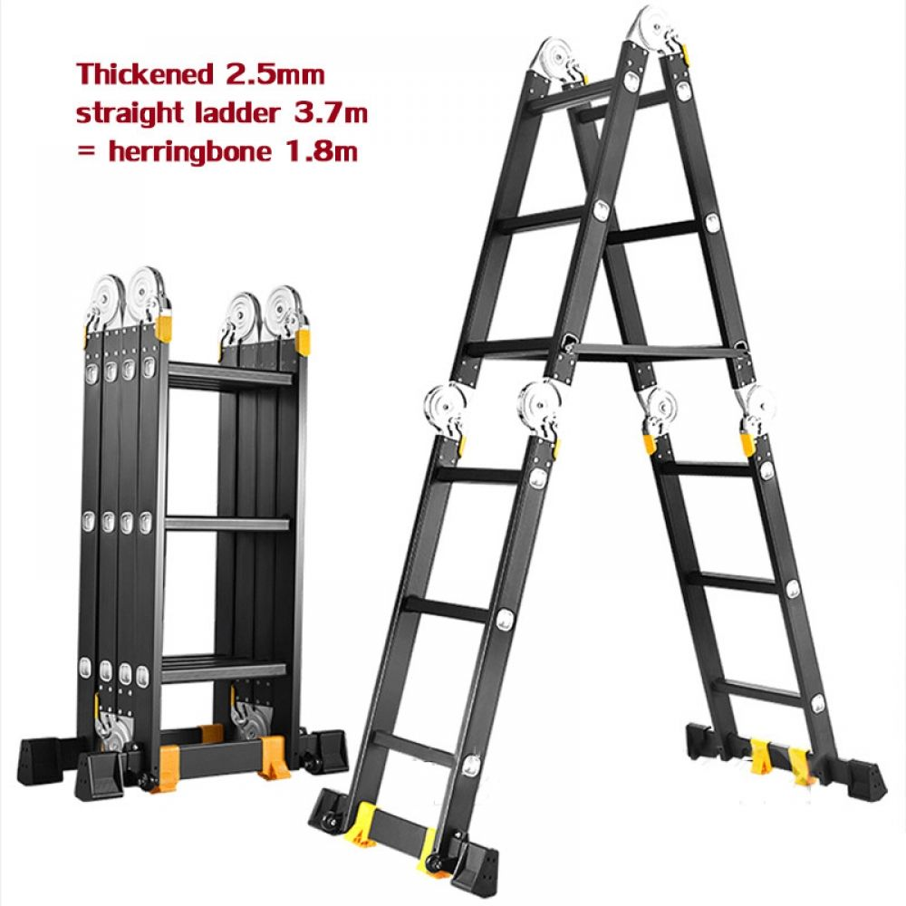 3 7m Straight Ladder Engineering Ladder Multi Purpose Folding Ladder Aluminum Ladder Herringbone In 2020 Safety